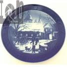 Royal Copenhagan Juleplatte 1995 Christmas Blue Plate China