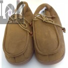 Tan Moccasins Indoor Outdoor House Slippers Mens Large Size 9
