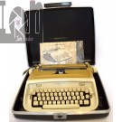 Vintage New Royal Safari Portable Typewriter MUSTARD Professionally Serviced! w Case Manual
