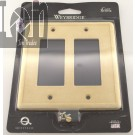 Weybridge Natural Stone Switch Plate Double GFCI Dual Wall Panel USA MADE