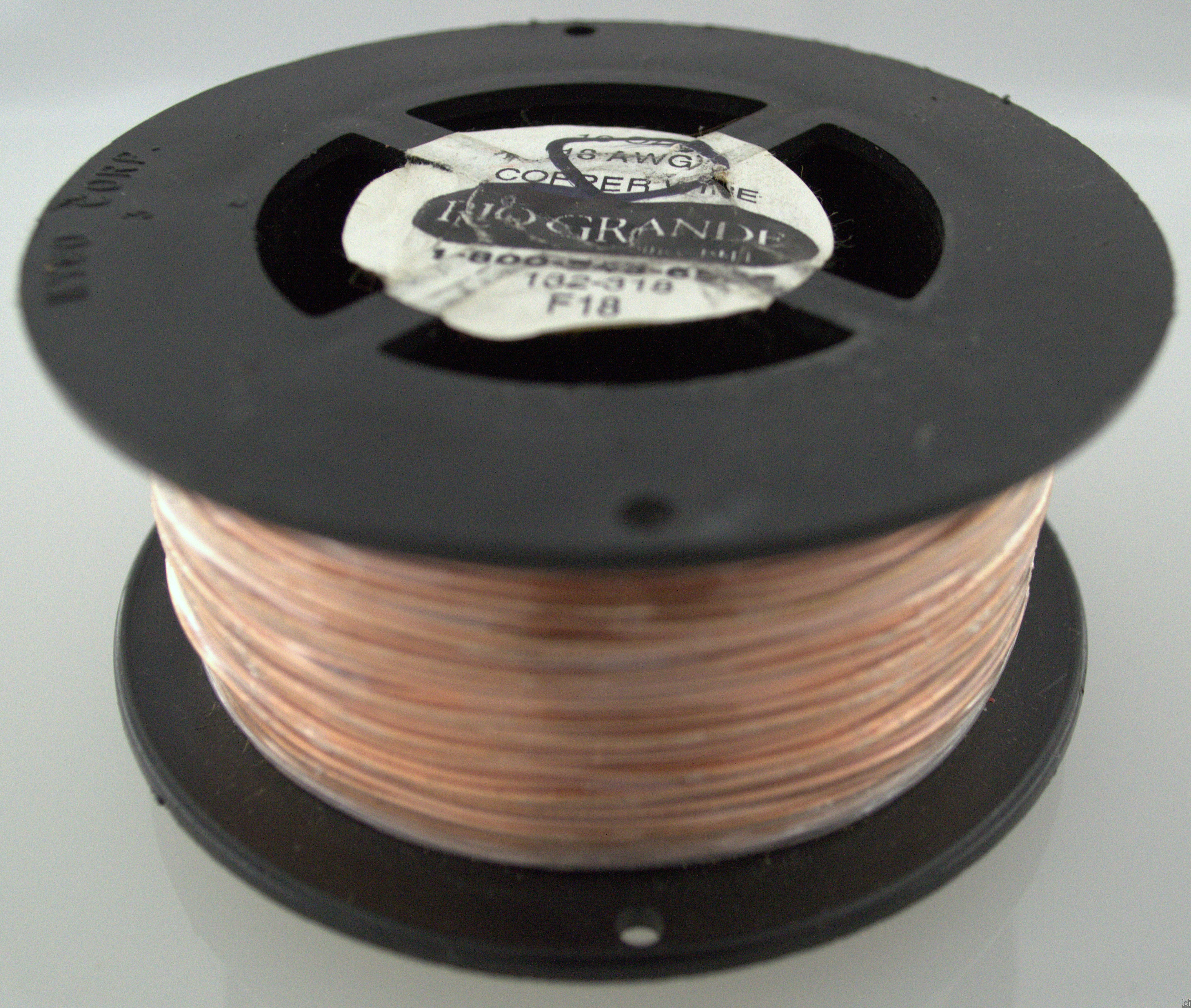 18AWG Bare Copper Wire Spool 1lb Ground Wire Grounding