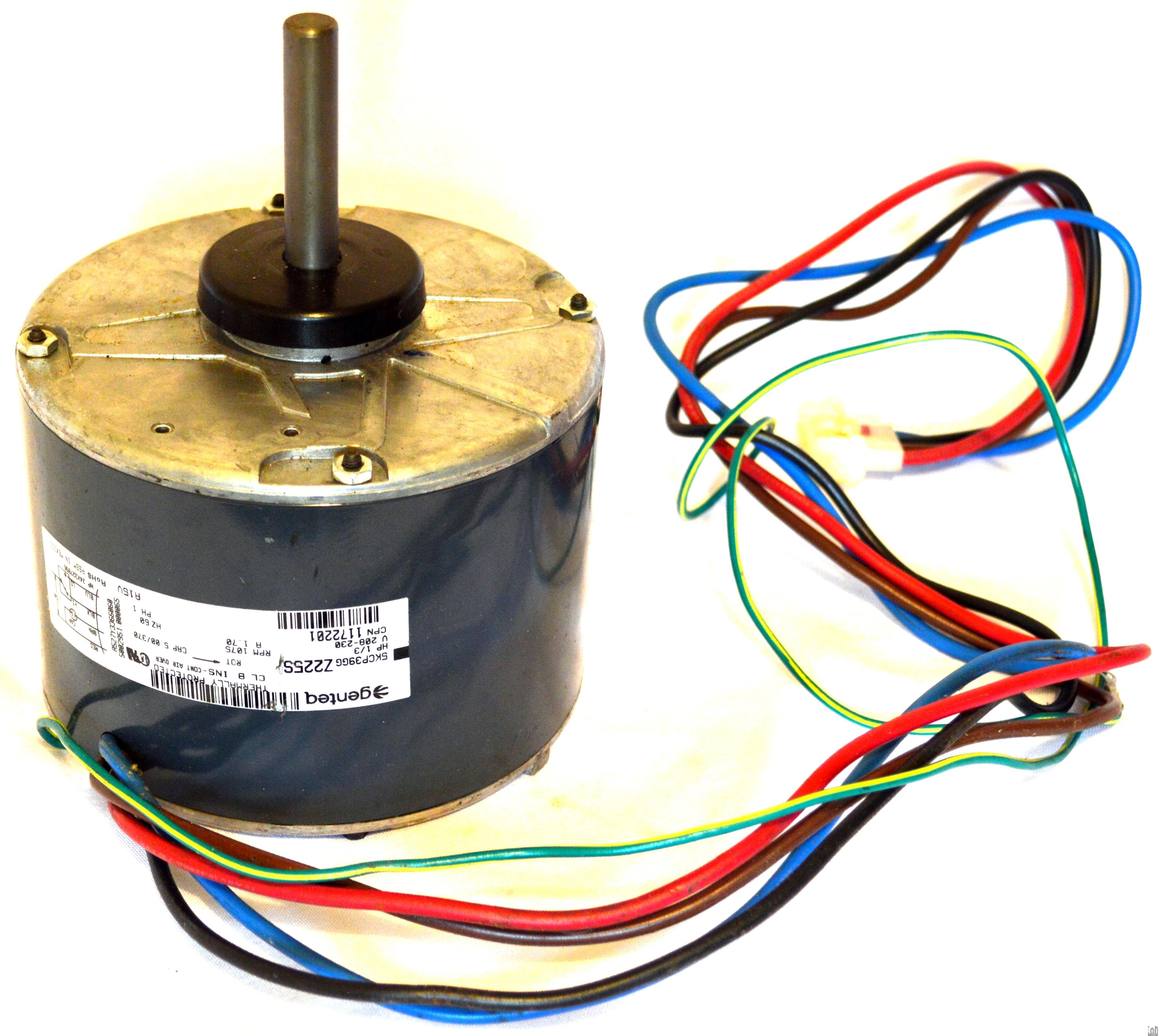 Genteq 1 3hp Blower Fan Motor Hvac Condenser 1172201 1075rpm