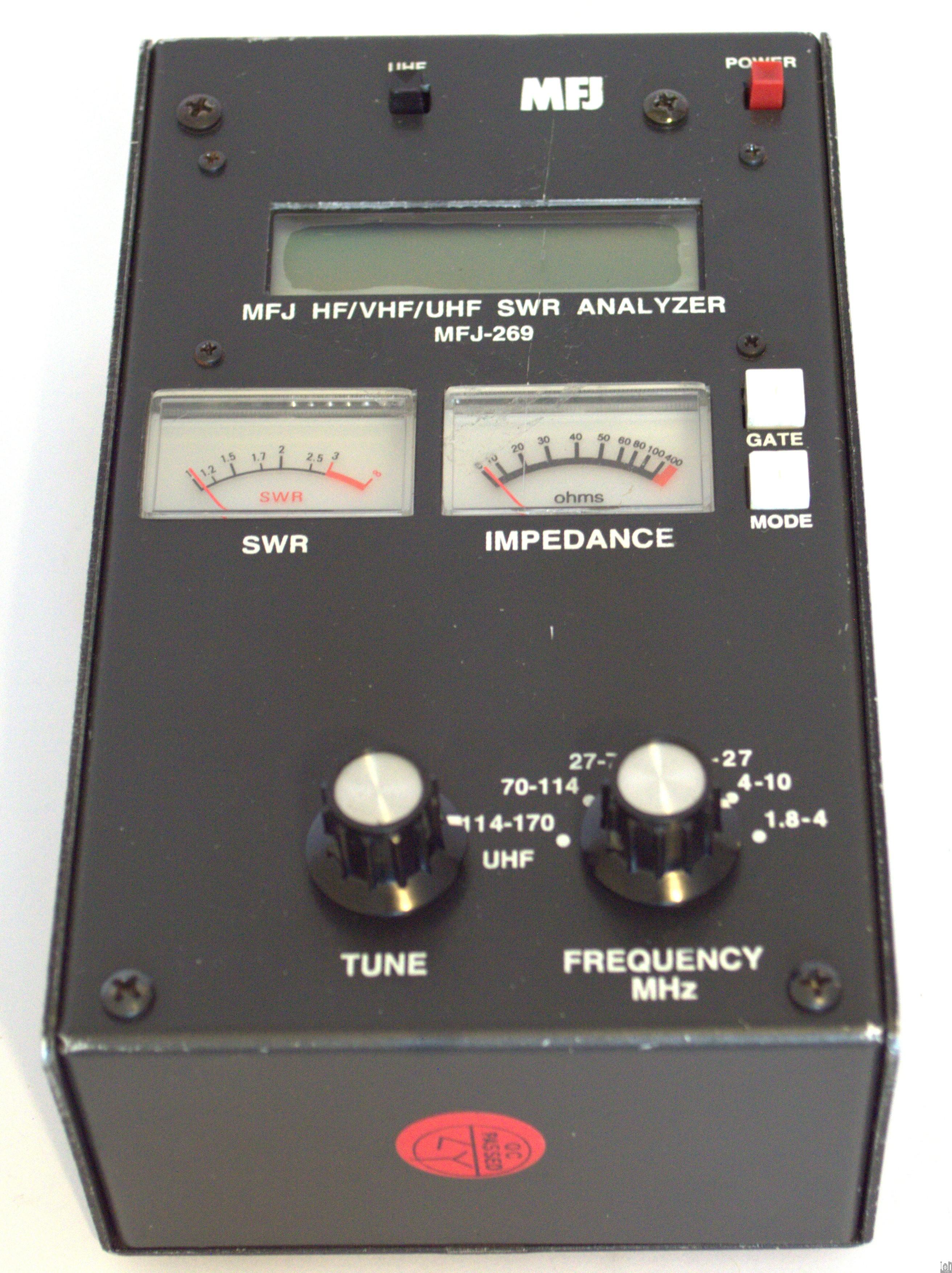 MFJ-269 SWR Antenna Analyzer HF VHF UHF Tester Probe